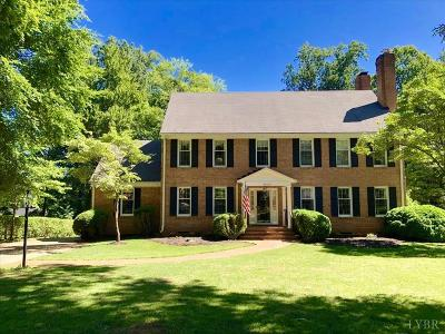 Lynchburg Single Family Home For Sale: 3020 Cardinal Place
