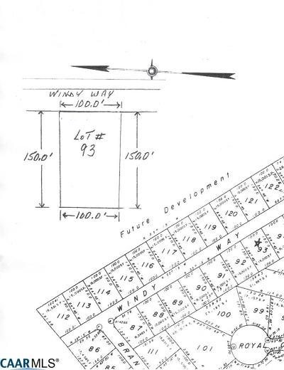 Lake Monticello Lots & Land For Sale: Lot 93 Windy Way