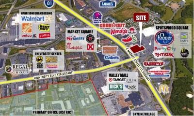 Harrisonburg Commercial Lease For Lease: 1760 E Market St
