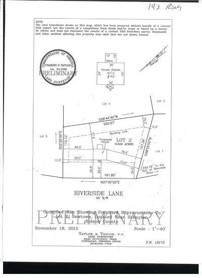 Nelson County Lots & Land For Sale: 143 Riverside Dr