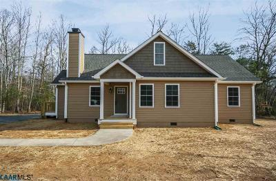 Gordonsville Single Family Home For Sale: 3 Zion Manor Rd