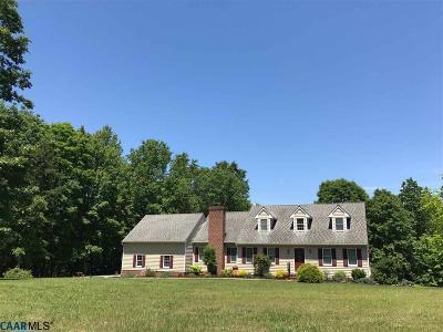 Fluvanna County Single Family Home For Sale: 99 Marshall Rd