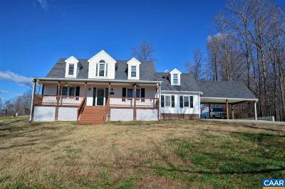 Louisa, Louisa County Single Family Home For Sale: 2167 Harts Mill Rd