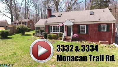 North Garden Single Family Home For Sale: 3332 Monacan Trail Rd