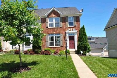 Pavilions At Pantops Townhome For Sale: 331 Rolkin Rd