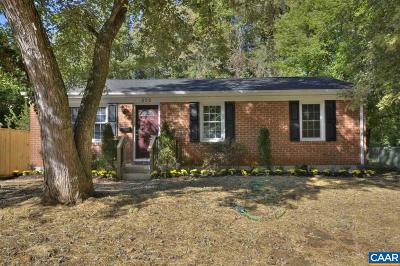 Charlottesville Single Family Home For Sale: 505 Rougemont Ave