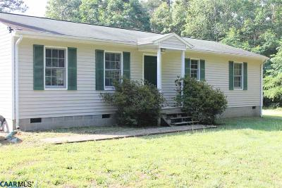 Louisa County Single Family Home For Sale: 1742 Eastham Rd
