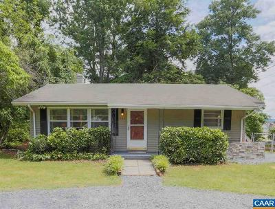 Charlottesville Single Family Home For Sale: 142 Stribling Ave