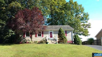 Charlottesville Single Family Home For Sale: 521 Jester Ln