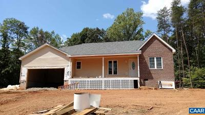 Louisa Single Family Home Active W/Kickout: 995 Bibb Store Rd #Lot 4