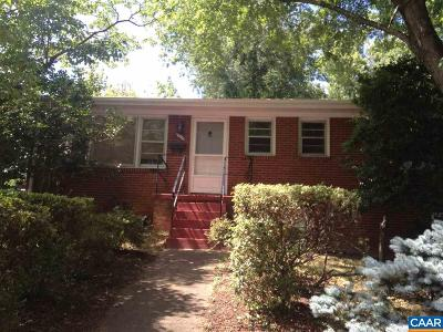 Charlottesville Single Family Home For Sale: 109 Thomas Dr