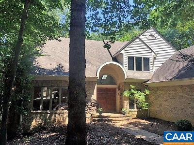 Charlottesville Single Family Home For Sale: 1070 Blackburn Bluff