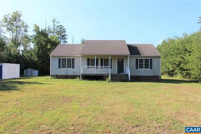Scottsville VA Single Family Home For Sale: $135,000
