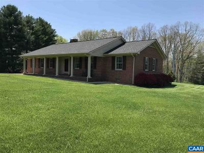 Scottsville Single Family Home For Sale: 1224 Paynes Landing Rd