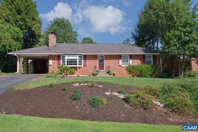 Charlottesville Single Family Home For Sale: 1705 Galloway Dr