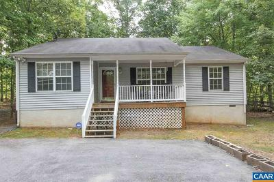 Fluvanna County Single Family Home For Sale: 5 Glen Burnie Rd