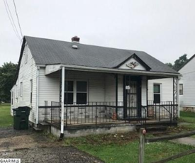 Waynesboro VA Single Family Home For Sale: $57,000