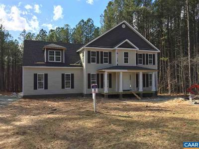 Fluvanna County Single Family Home For Sale: Lot 17 Cunningham Dr