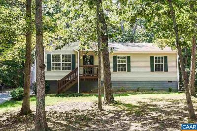 Fluvanna County Single Family Home For Sale: 10 Hatchechubee Rd