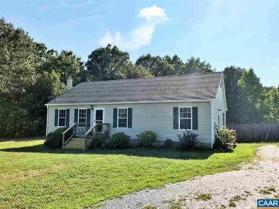 Fluvanna County Single Family Home For Sale: 1481 Jordan Store Rd