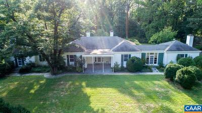 Charlottesville Single Family Home For Sale: 675 Bloomfield Rd