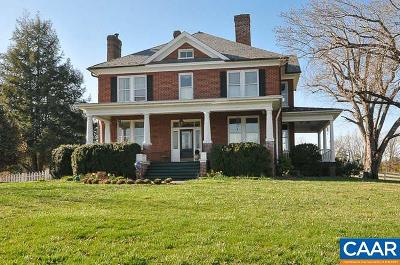 Earlysville Single Family Home For Sale: 5542 Advance Mills Rd