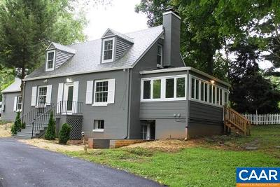 Charlottesville Single Family Home For Sale: 2 Orchard Rd