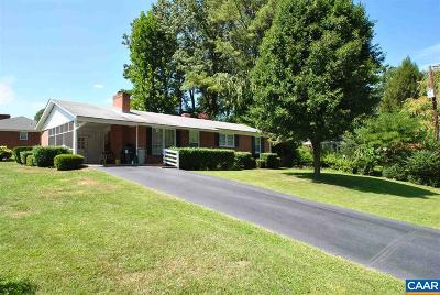 Charlottesville Single Family Home For Sale: 1400 Lester Dr