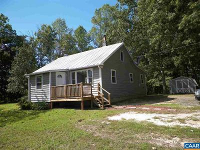 Fluvanna County Single Family Home For Sale: 1263 Mountain Hill Rd