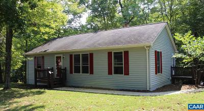 Fluvanna County Single Family Home For Sale: 7 Mechunk Ter
