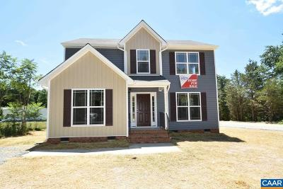 Louisa Single Family Home For Sale: Lot 66-7 Three Notch Rd