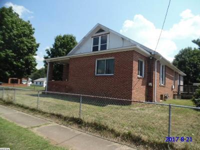 Waynesboro VA Single Family Home For Sale: $119,900