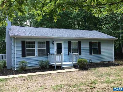 Fluvanna County Single Family Home For Sale: 763 Hollands Rd