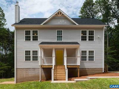 Charlottesville County Single Family Home For Sale: Lot 4 Naylor Ln