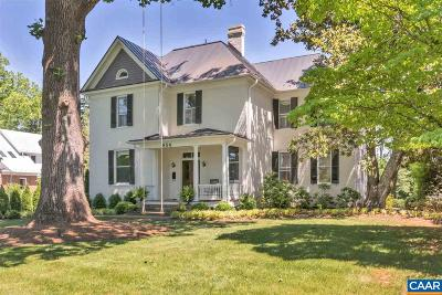 Charlottesville Single Family Home For Sale: 854 Locust Ave