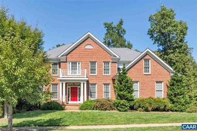 Charlottesville Single Family Home For Sale: 1718 Monet Hill