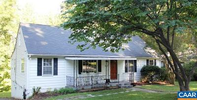 Charlottesville VA Single Family Home For Sale: $259,500