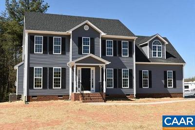 Fluvanna County Single Family Home For Sale: Lot 5 Central Plains Rd