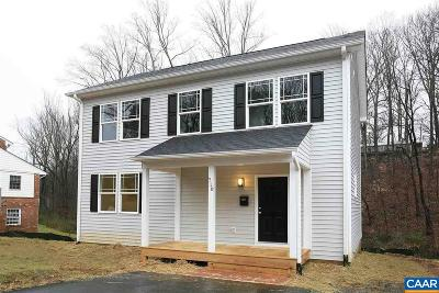 Charlottesville County Single Family Home For Sale: Lot 7 Naylor St