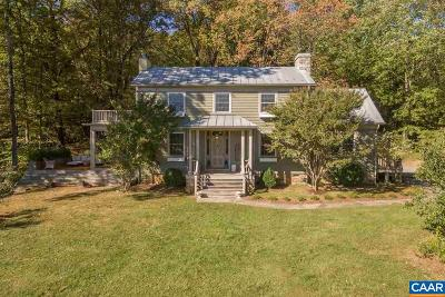 Crozet Single Family Home For Sale: 3300 Middle Mountain Rd