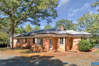 Charlottesville Single Family Home For Sale: 2731 Lake Albemarle Rd