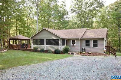 Fluvanna County Single Family Home For Sale: 1142 Oak Creek Rd