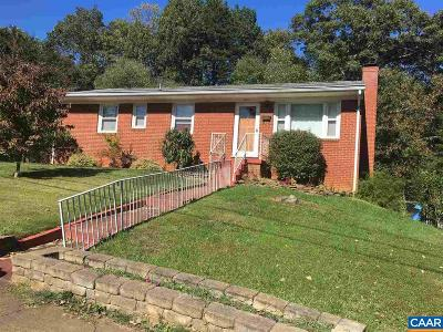 Charlottesville Single Family Home For Sale: 1242 Holmes Ave