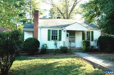 Charlottesville Single Family Home For Sale: 210 Robertson Ave