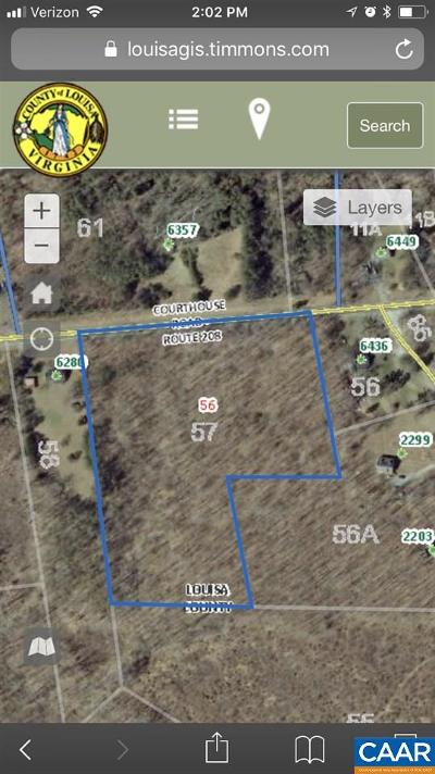 Louisa Lots & Land For Sale: Courthouse Rd
