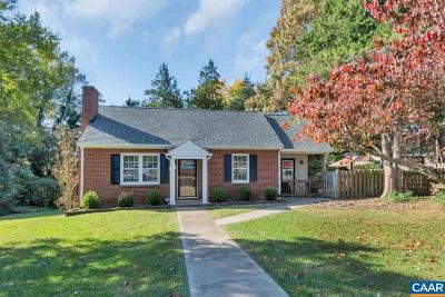 Charlottesville County Single Family Home For Sale: 1214 Hazel St