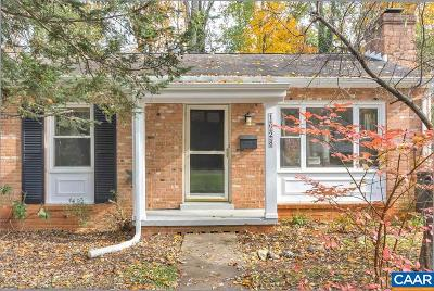Charlottesville Single Family Home For Sale: 1028 Cottonwood Rd