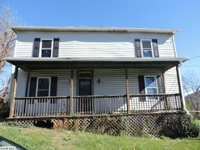 Staunton VA Single Family Home For Sale: $30,000