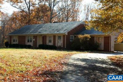 Fluvanna County Single Family Home For Sale: 270 East River Rd