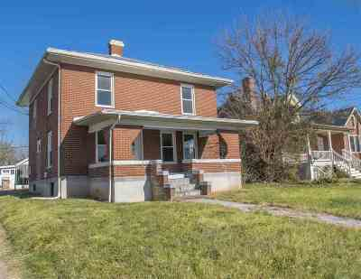 Harrisonburg VA Single Family Home For Sale: $167,500